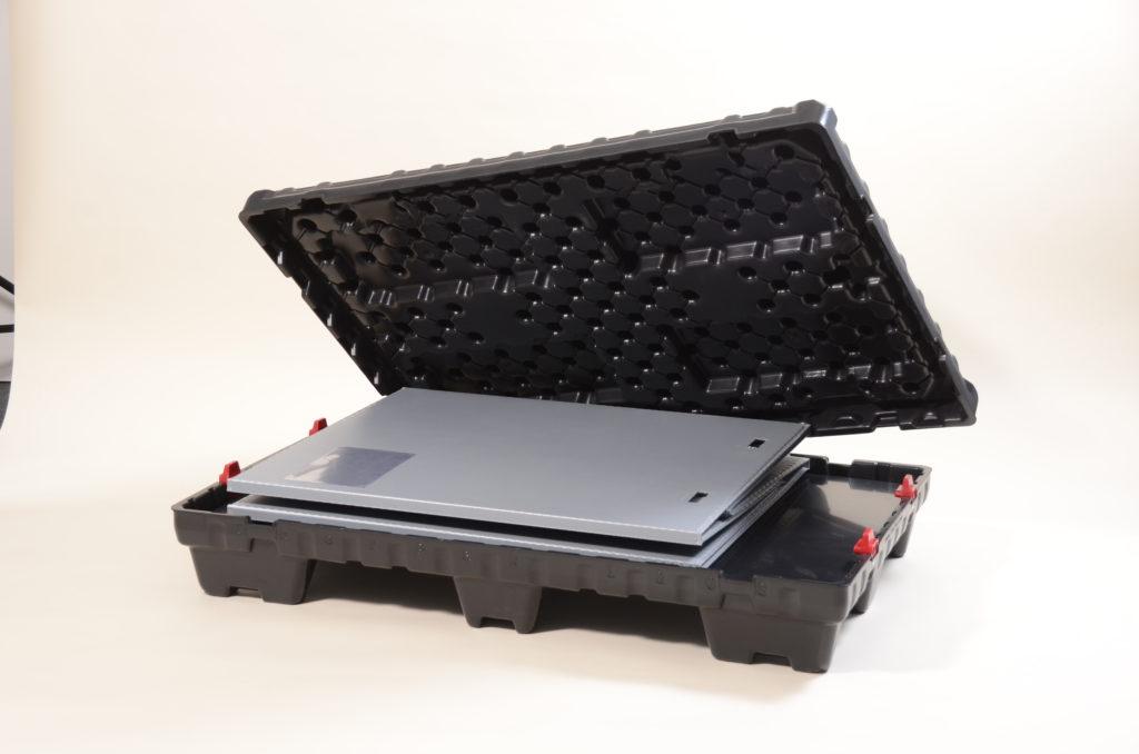 Fällbar pallbox med svep Thorpak allt i ett med ergonomisk hantering
