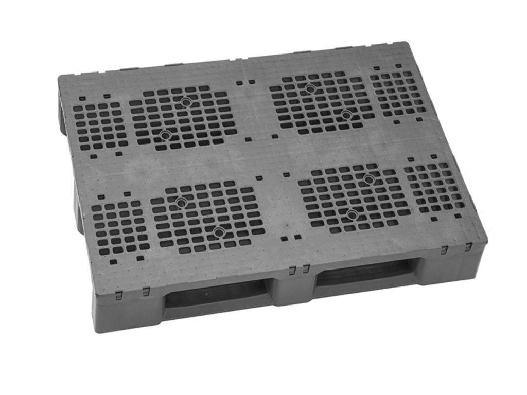Plastpall HD+ 1200 x 800mm 3medar stödkant