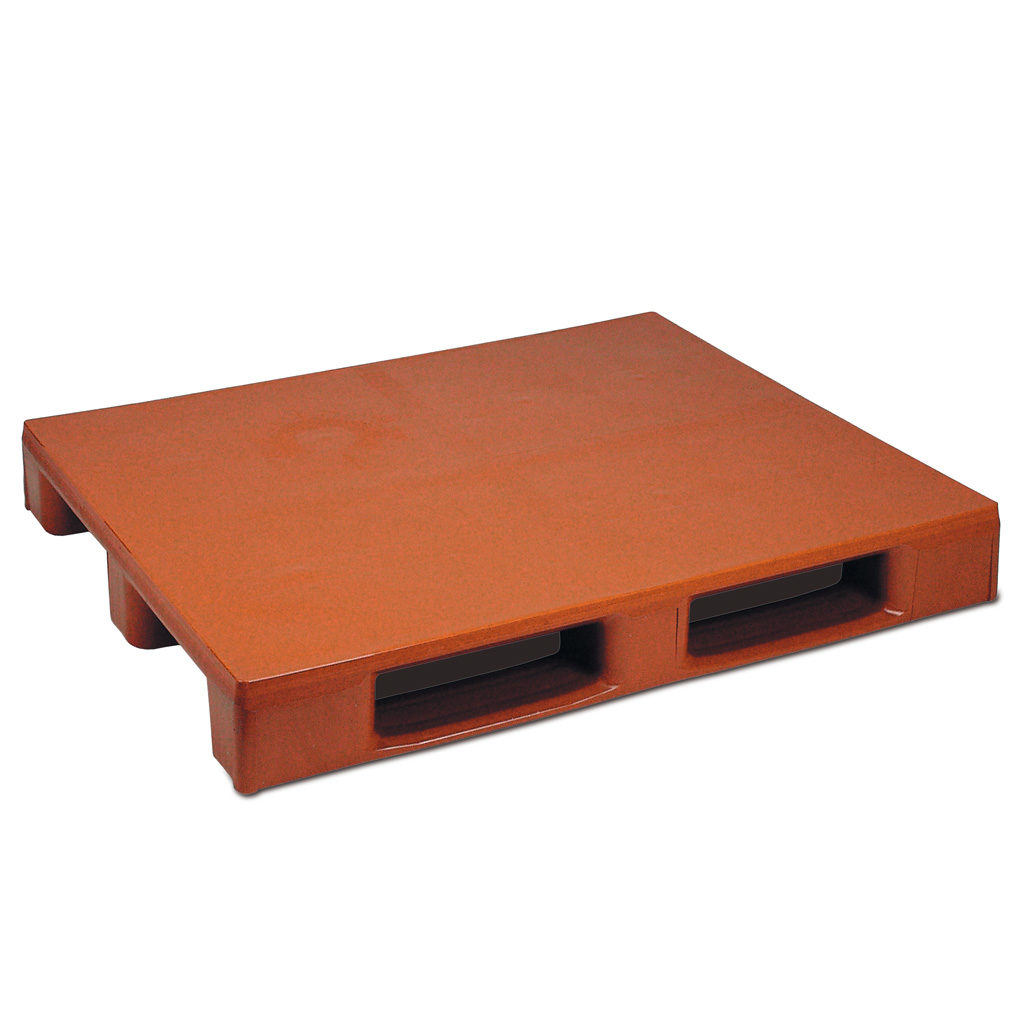 Plastpall Hygien förstärkt 1200 x 1000 3 medar slätt däck och botten
