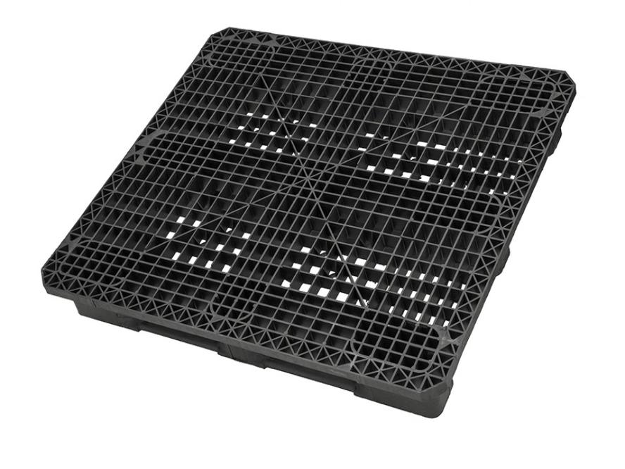 Plastpall HD standard CP4 1300 x 1100mm 3medar stödkant
